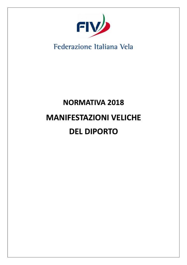 NORMATIVA 2018 - MANIFESTAZIONI VELICHE DEL DIPORTO