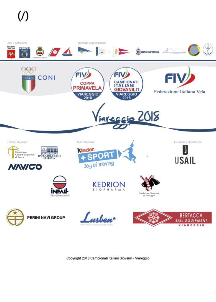 LINK UFFICIALE CAMPIONATI GIOVANILI 2018 A VIAREGGIO