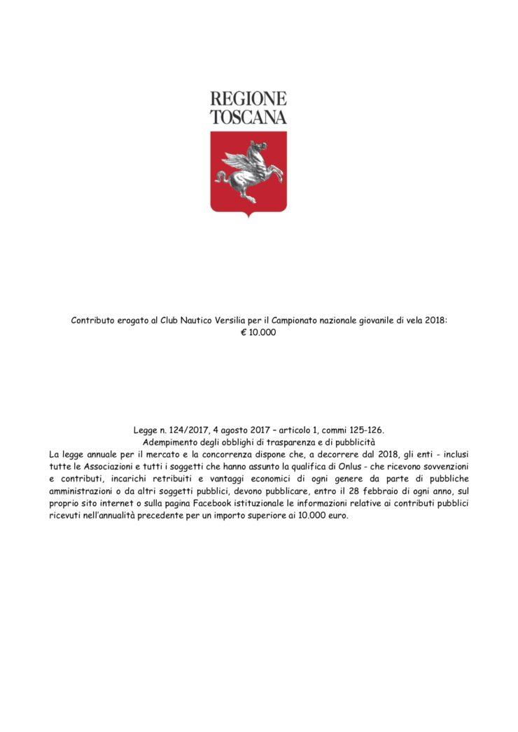 Contributo Regione Toscana
