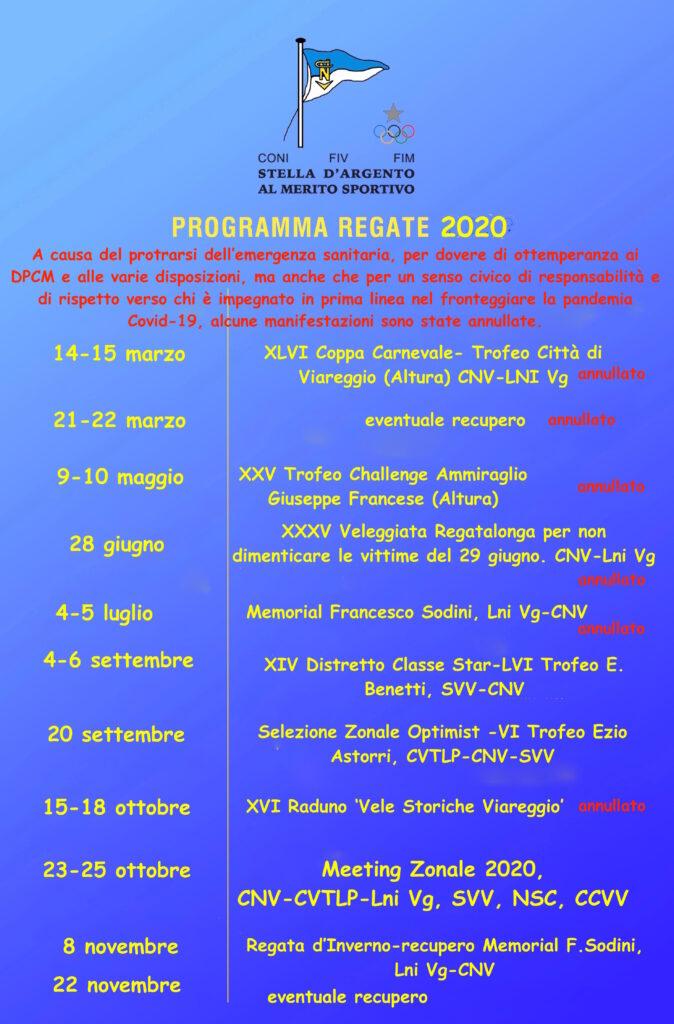 Calendario agonistico 2020 con modifiche per il Covid-19