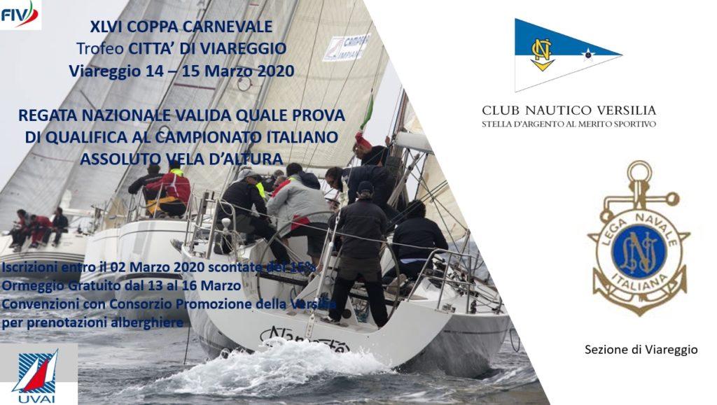 XLVI COPPA CARNEVALE - Trofeo Città di Viareggio, 14 – 15 Marzo 2020, Viareggio.