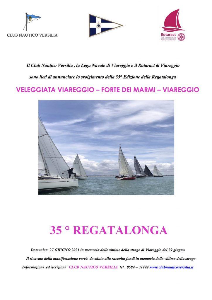 Veleggiata REGATALONGA, 27 giugno 2021 Viareggio-Forte dei Marmi, Viareggio.