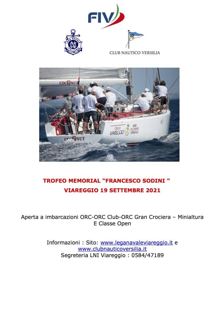 Trofeo Memorial Francesco Sodini, Viareggio 19 settembre 2021